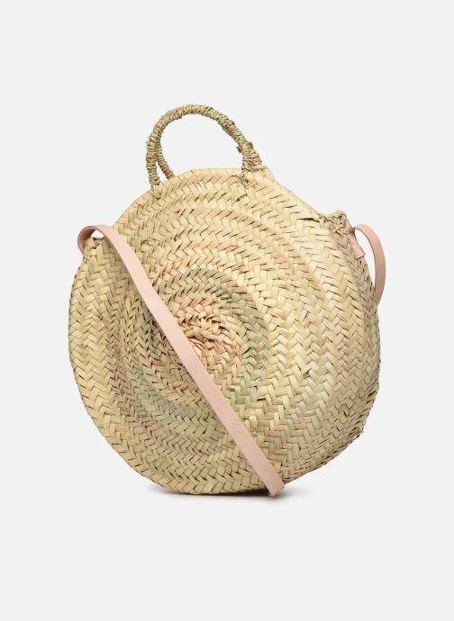Handtaschen Etincelles Panier rond bandoulière et anses Pompons beige ansicht von rechts