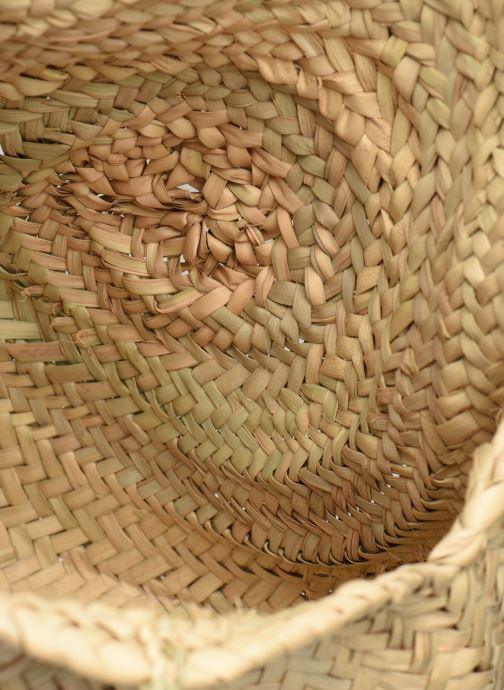 Sacs à main Etincelles Panier rond bandoulière et anses Pompons Beige vue derrière