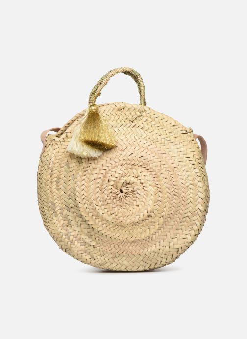 Handbags Etincelles Panier rond bandoulière et anses Pompons Beige detailed view/ Pair view