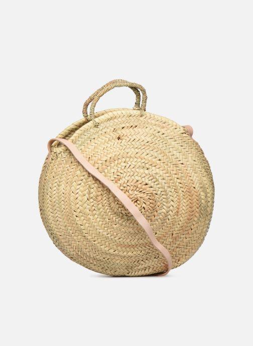 Handtaschen Etincelles Panier rond bandoulière et anses Pompons Patchs beige ansicht von vorne