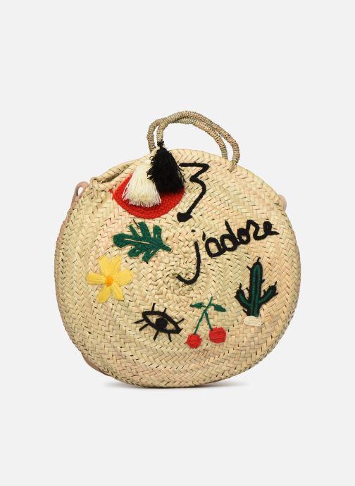 Handtaschen Etincelles Panier rond bandoulière et anses Pompons Patchs beige detaillierte ansicht/modell
