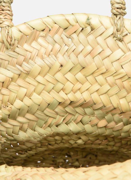Handtaschen Etincelles Panier rond bandoulière et anses Pompons Feuilles beige ansicht von hinten