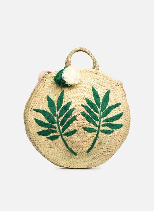 Handtaschen Etincelles Panier rond bandoulière et anses Pompons Feuilles beige detaillierte ansicht/modell