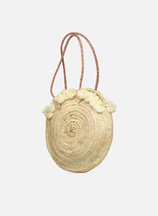 Handtaschen Etincelles Panier pompoms double anses beige ansicht von rechts