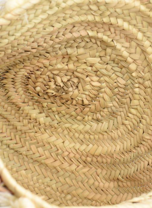 Handtaschen Etincelles Panier pompoms double anses beige ansicht von hinten