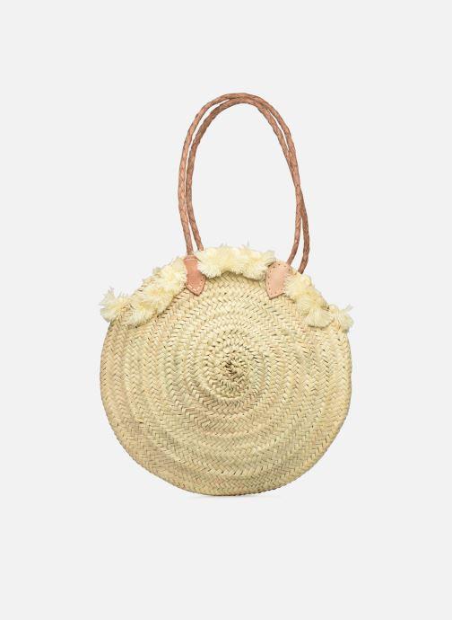 Handtaschen Etincelles Panier pompoms double anses beige detaillierte ansicht/modell