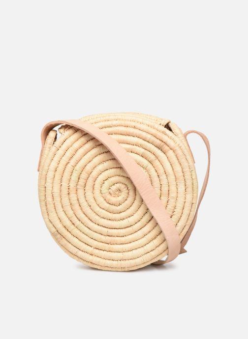 Handtaschen Etincelles Sac rond raphia beige ansicht von vorne