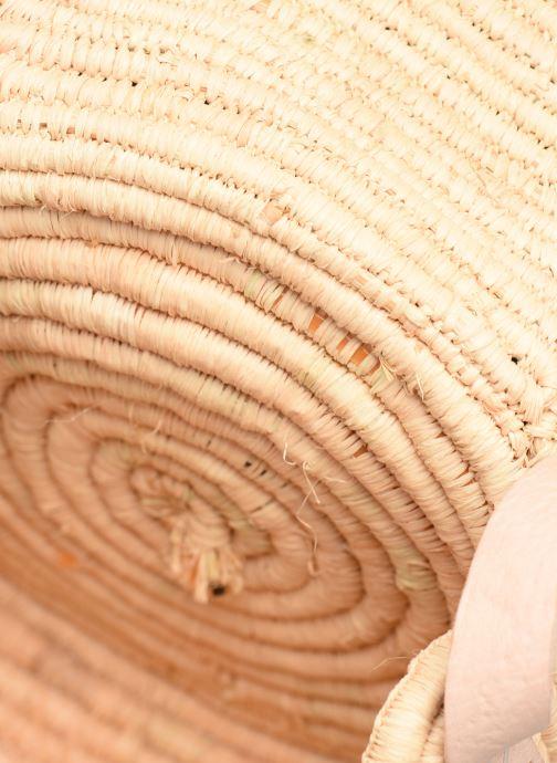 Handtaschen Etincelles Sac rond raphia beige ansicht von hinten