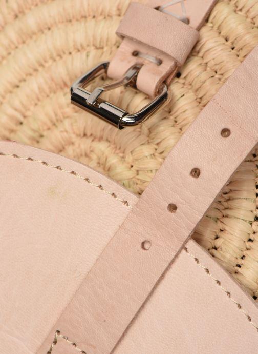 Handtaschen Etincelles Sac rond raphia beige ansicht von links