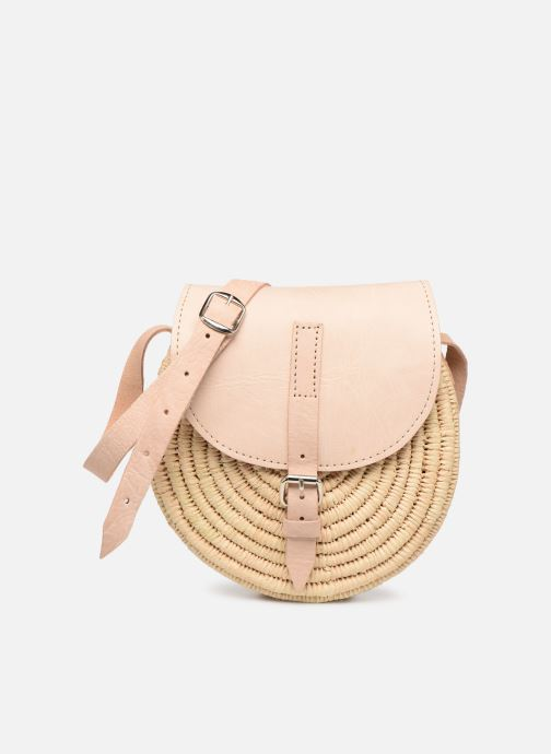Handtaschen Etincelles Sac rond raphia beige detaillierte ansicht/modell