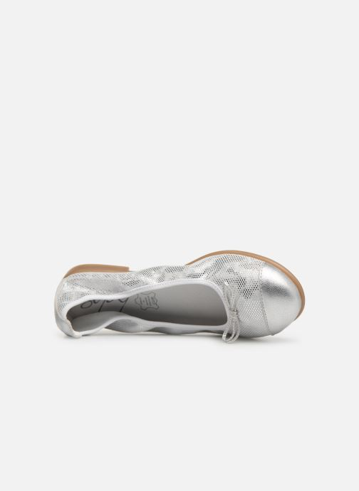 Ballet pumps Bopy Sabaya Silver view from the left