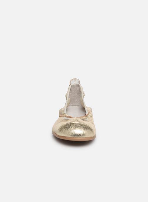 Ballerines Bopy Sabaya Or et bronze vue portées chaussures