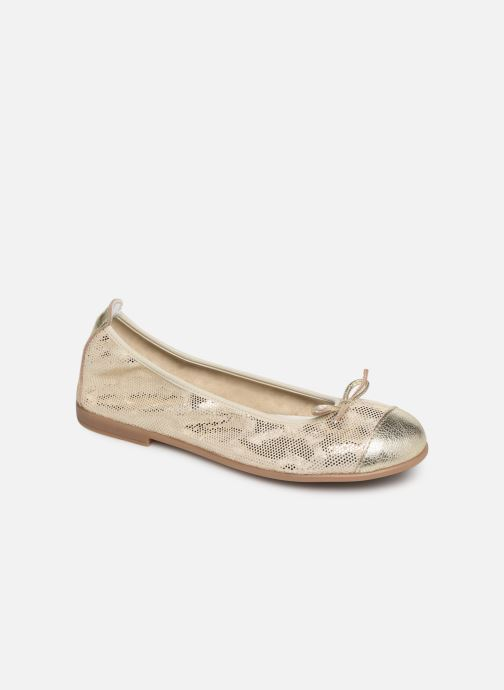 Ballet pumps Bopy Sabaya Bronze and Gold detailed view/ Pair view
