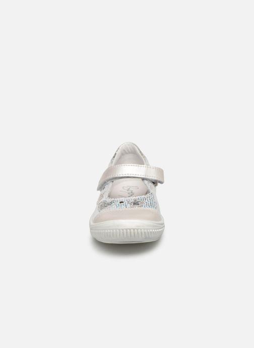 Ballerines Bopy Simseri Argent vue portées chaussures