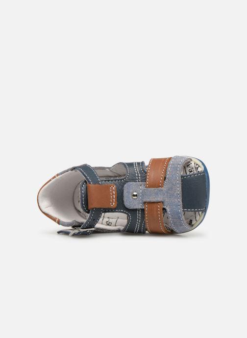 Sandales et nu-pieds Bopy Zac Bleu vue gauche