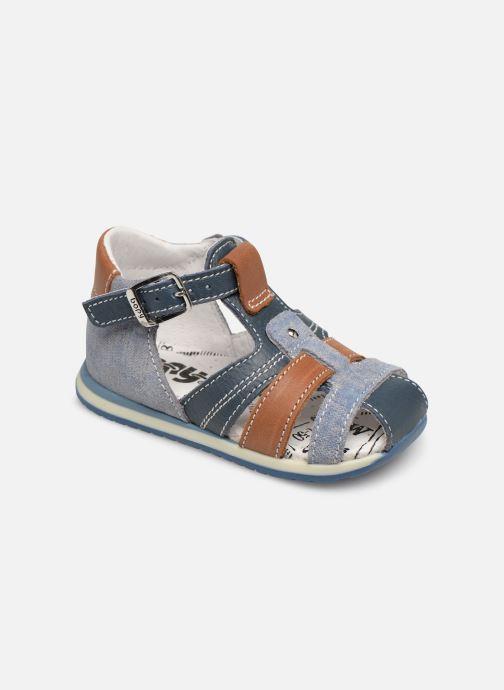 Sandales et nu-pieds Bopy Zac Bleu vue détail/paire