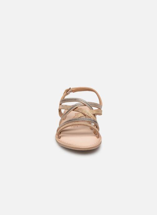 Sandales et nu-pieds Bopy Fabrille Lilybellule Or et bronze vue portées chaussures