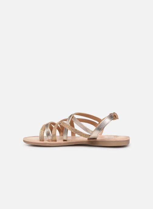 Sandales et nu-pieds Bopy Fabrille Lilybellule Or et bronze vue face