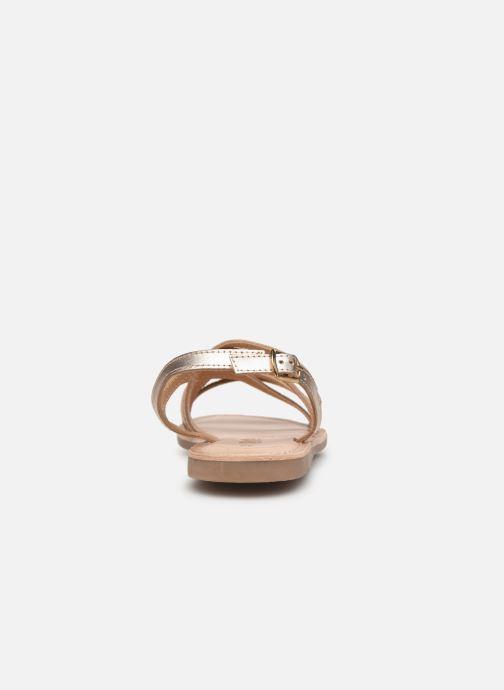 Sandales et nu-pieds Bopy Fabrille Lilybellule Or et bronze vue droite