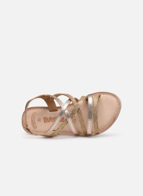 Sandales et nu-pieds Bopy Fabrille Lilybellule Or et bronze vue gauche