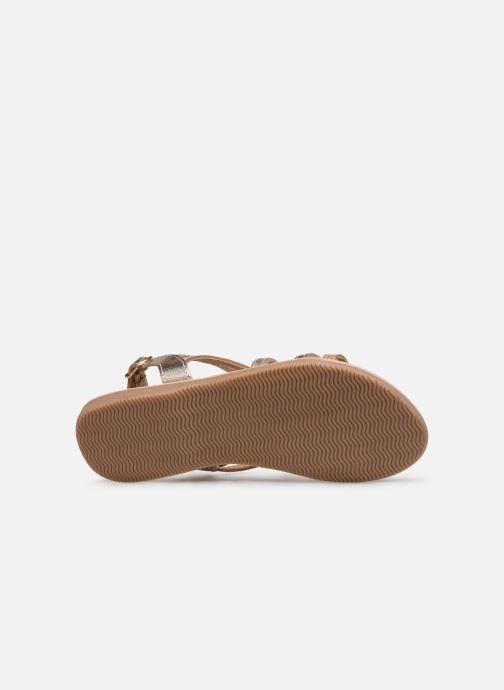 Sandales et nu-pieds Bopy Fabrille Lilybellule Or et bronze vue haut