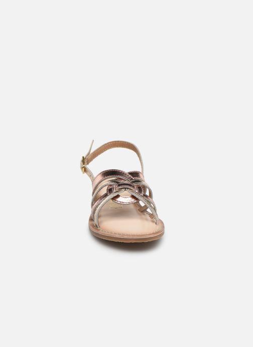 Sandales et nu-pieds Bopy Facila Lilybellule Rose vue portées chaussures