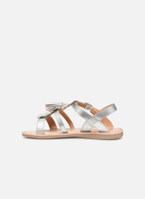 Sandales et nu-pieds Bopy Fitna Lilybellule Argent vue face