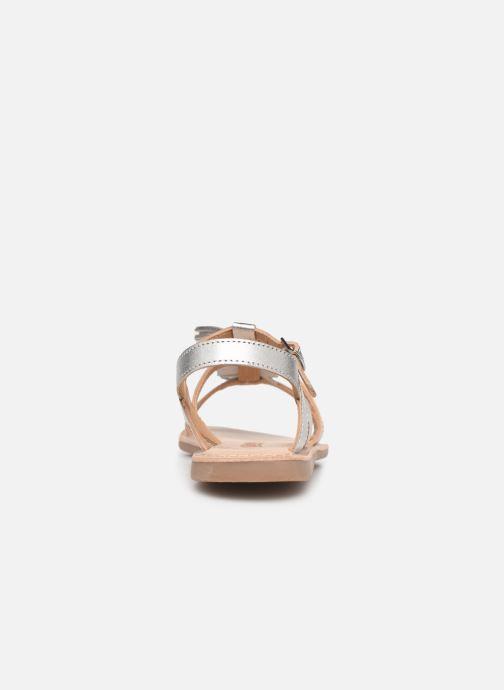 Sandales et nu-pieds Bopy Fitna Lilybellule Argent vue droite