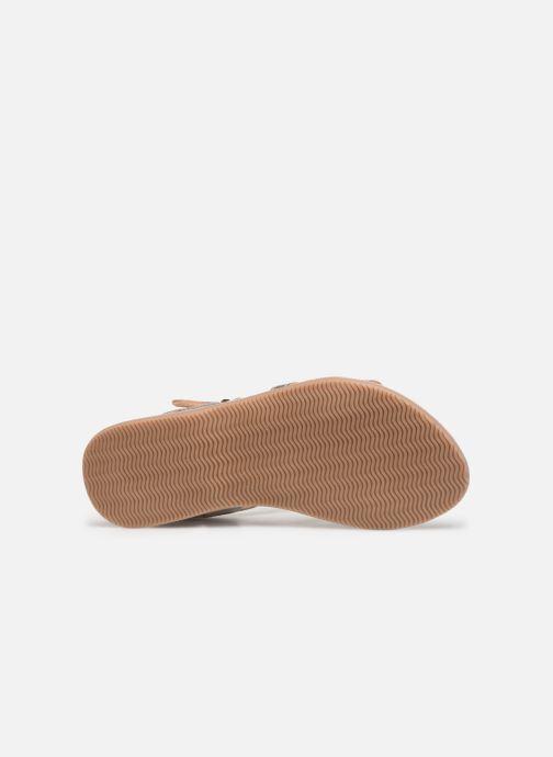 Sandales et nu-pieds Bopy Fitna Lilybellule Argent vue haut