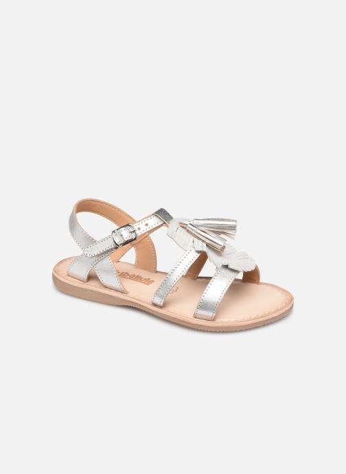 Sandales et nu-pieds Bopy Fitna Lilybellule Argent vue détail/paire
