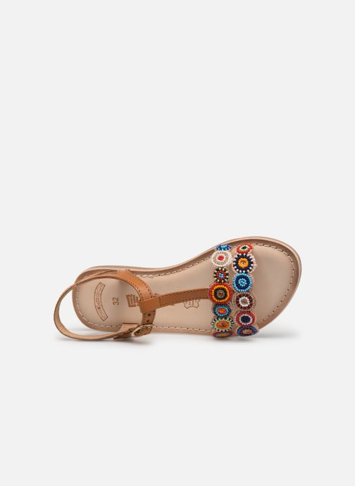 Sandals Bopy Flipac Lilybellule Brown view from the left