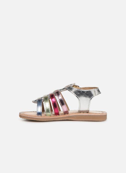 Sandales et nu-pieds Bopy Fripona Kouki Argent vue face