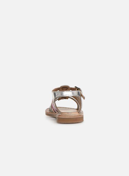 Sandalen Bopy Fripona Kouki silber ansicht von rechts