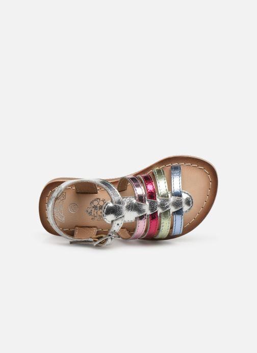 Sandales et nu-pieds Bopy Fripona Kouki Argent vue gauche