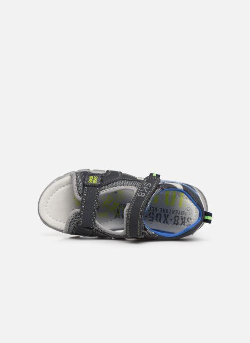 Sandalias Bopy Tchonfi SK8 Azul vista lateral izquierda