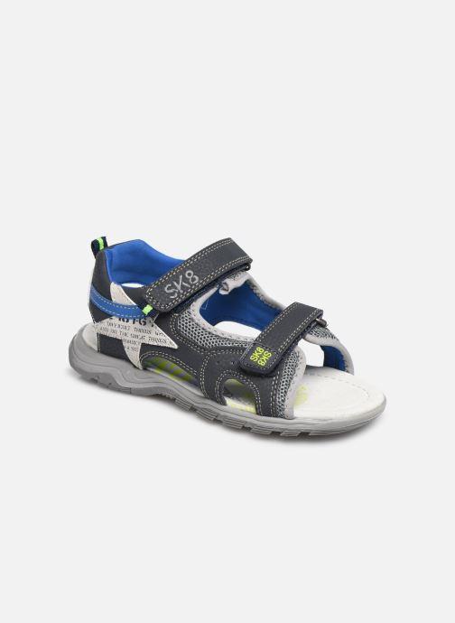 Sandales et nu-pieds Bopy Tchonfi SK8 Bleu vue détail/paire