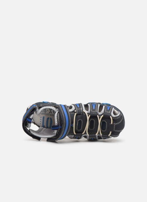 Sandalias Bopy Tiorfan SK8 Azul vista lateral izquierda
