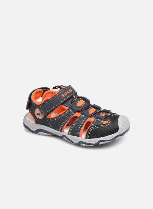 Sandales et nu-pieds Bopy Xopair SK8 Noir vue détail/paire