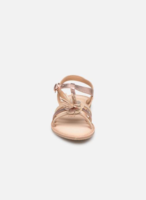 Sandales et nu-pieds Bopy Fifela Lilybellule Rose vue portées chaussures