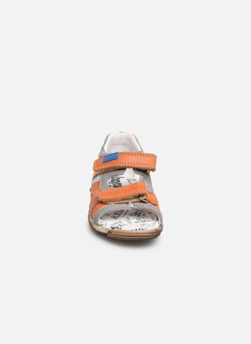 Sandales et nu-pieds Bopy Begalon Orange vue portées chaussures