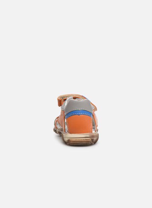 Sandales et nu-pieds Bopy Begalon Orange vue droite
