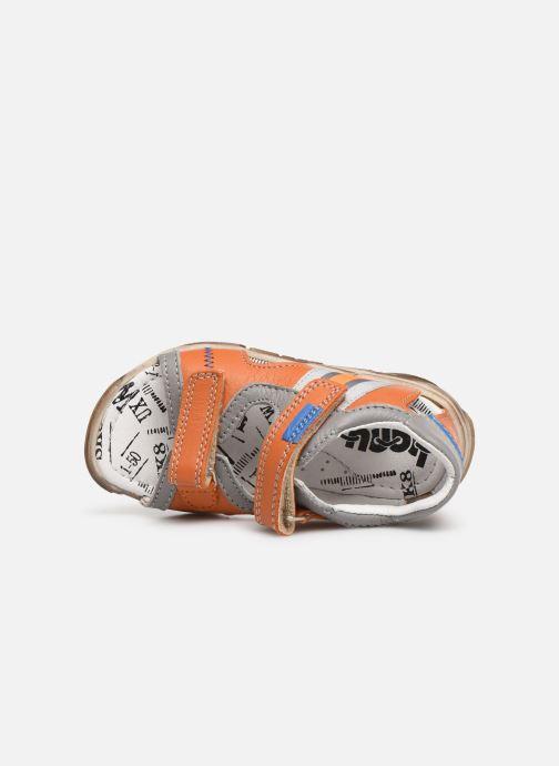 Sandales et nu-pieds Bopy Begalon Orange vue gauche