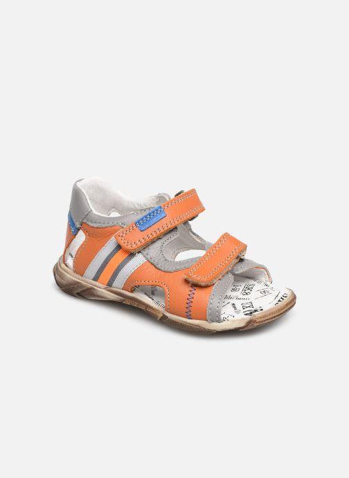 Sandales et nu-pieds Bopy Begalon Orange vue détail/paire
