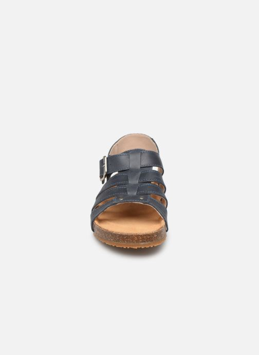Sandales et nu-pieds Bopy Ebruno Bleu vue portées chaussures