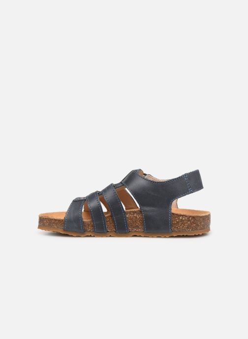 Sandales et nu-pieds Bopy Ebruno Bleu vue face