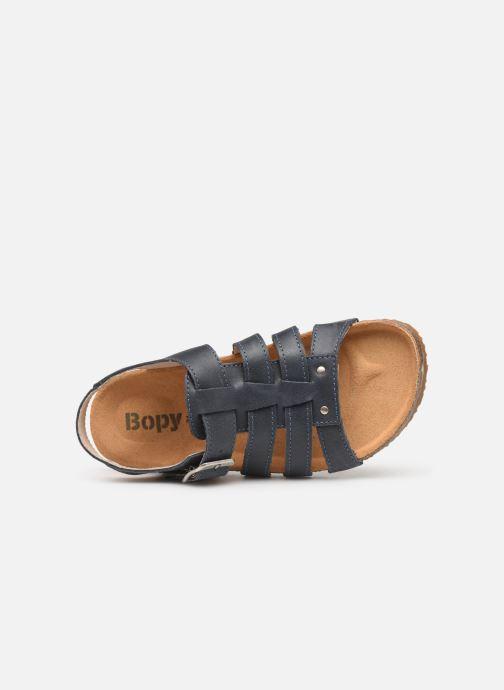 Sandales et nu-pieds Bopy Ebruno Bleu vue gauche