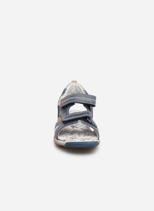 Sandales et nu-pieds Bopy Edric Bleu vue portées chaussures