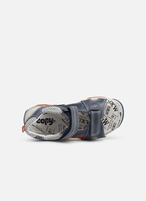 Sandales et nu-pieds Bopy Edric Bleu vue gauche