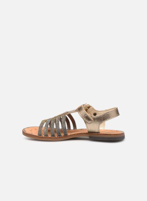 Sandales et nu-pieds Bopy Eleanor Or et bronze vue face