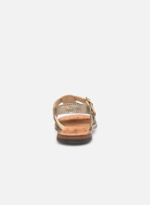 Sandales et nu-pieds Bopy Eleanor Or et bronze vue droite